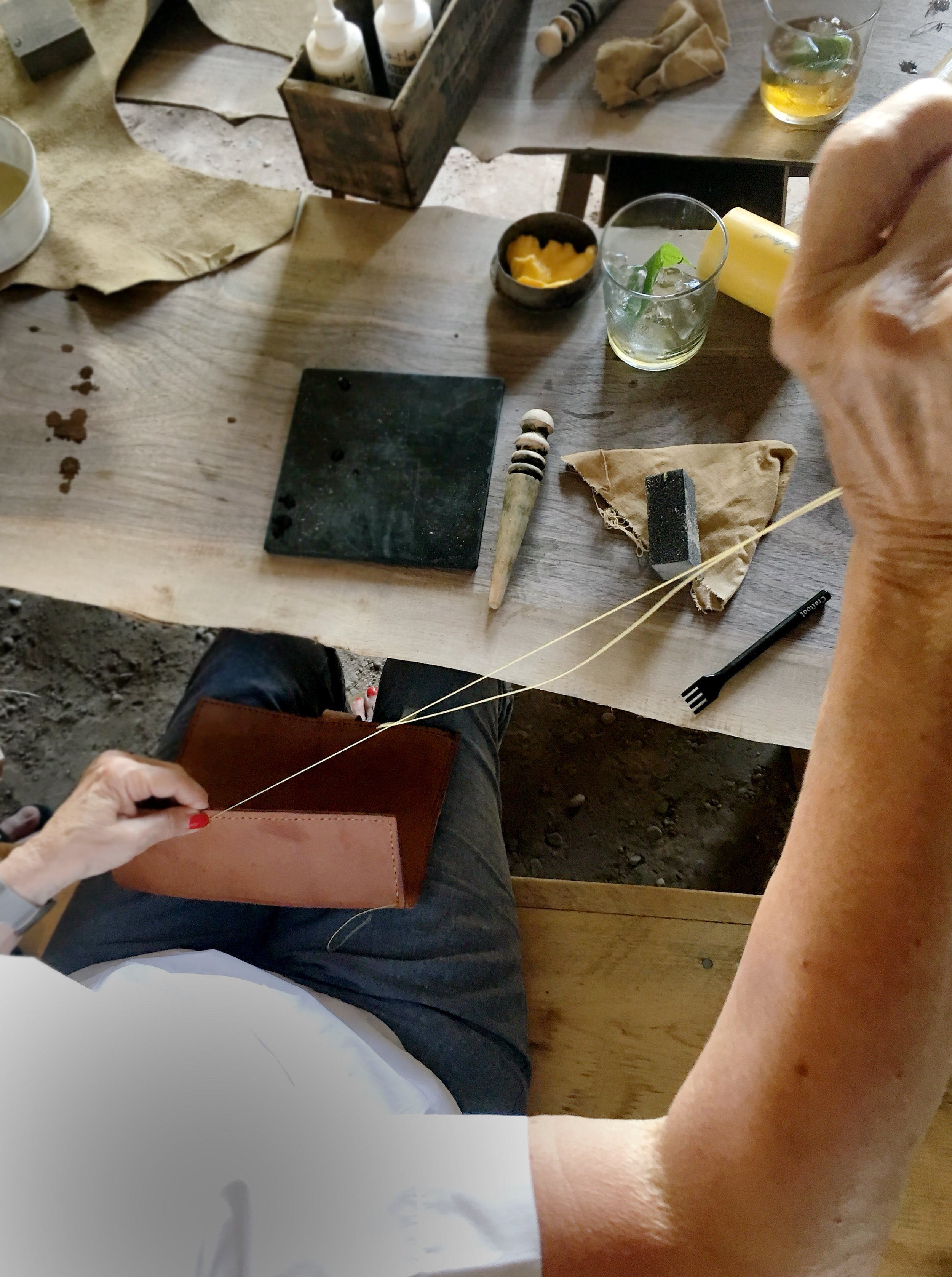 Fish & Bicycle Hand Leather Smithing - photo Juliette Hermant -3