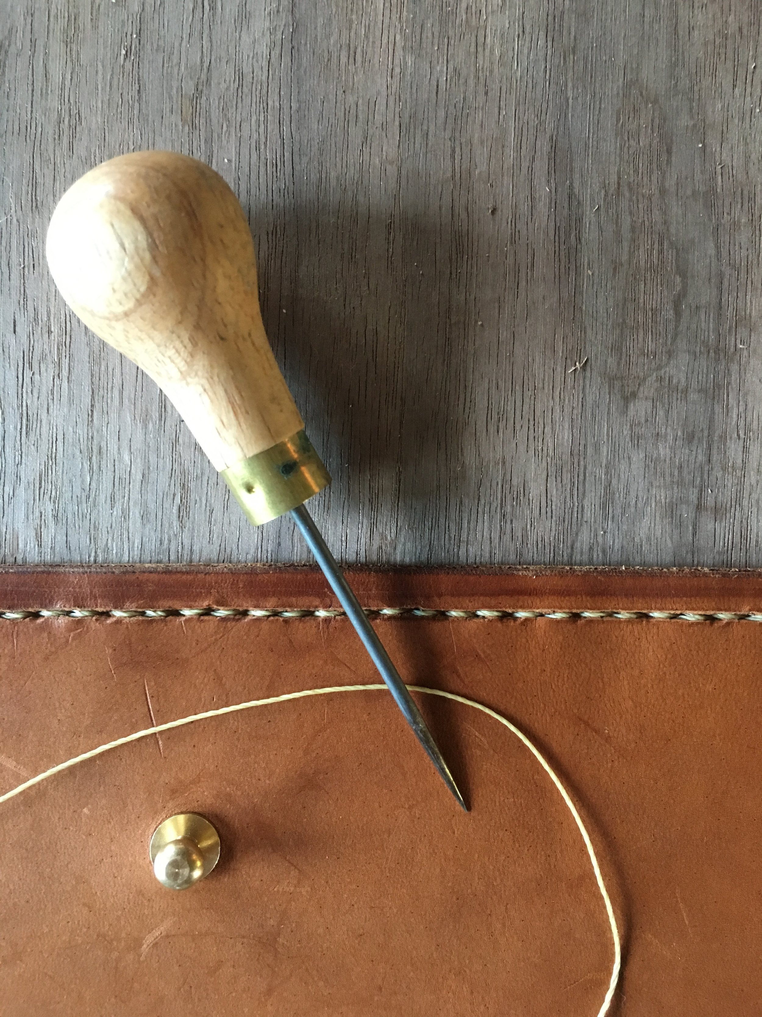Hand Leather Smithing/ Field notebook cover - June 18, 2017Narrowsburg NY