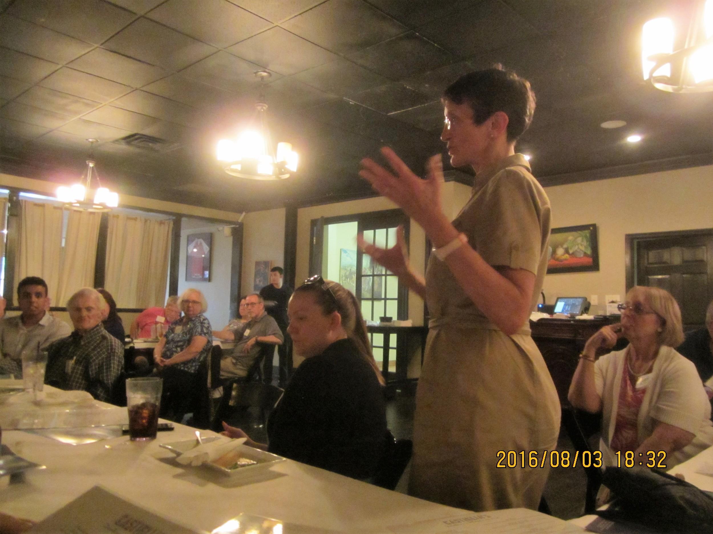 Noelle shares ideas for educating voters.JPG