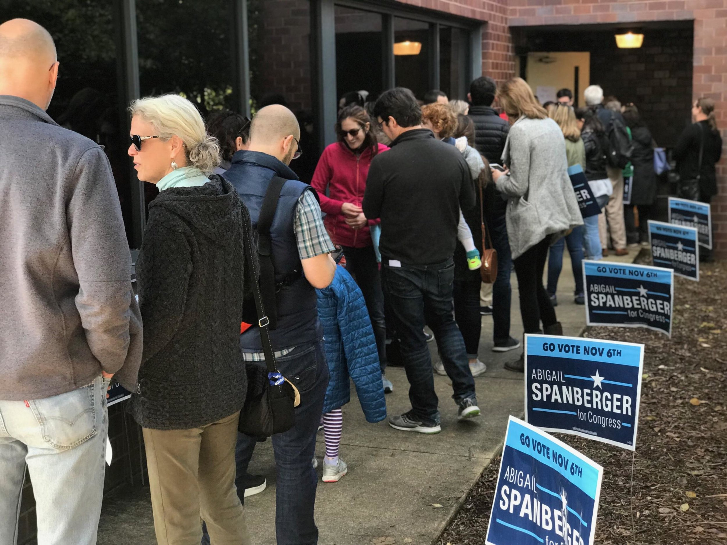 October 28 - canvassers in line for packets.jpg