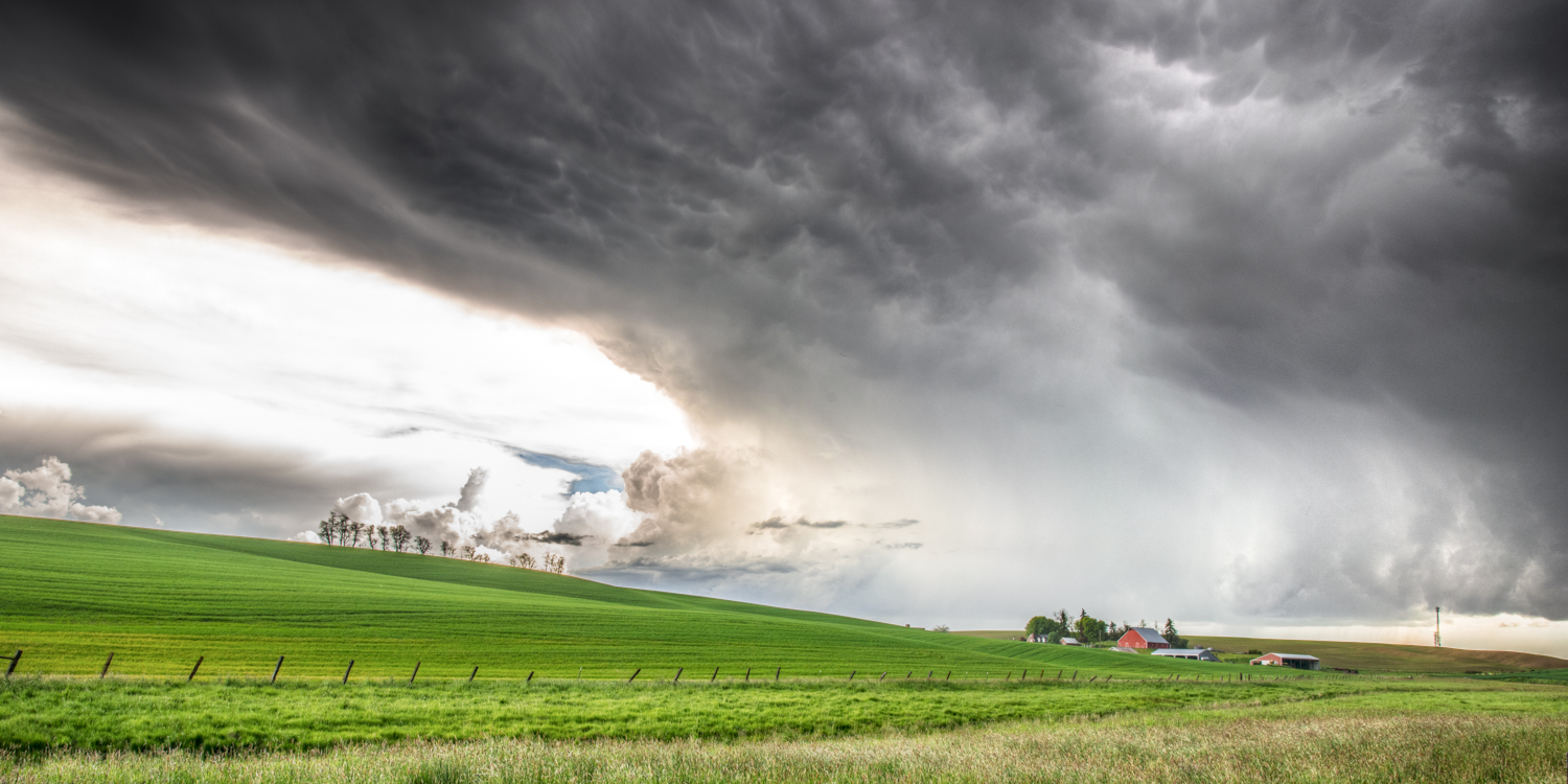 Palouse Spring Storm Panoramic