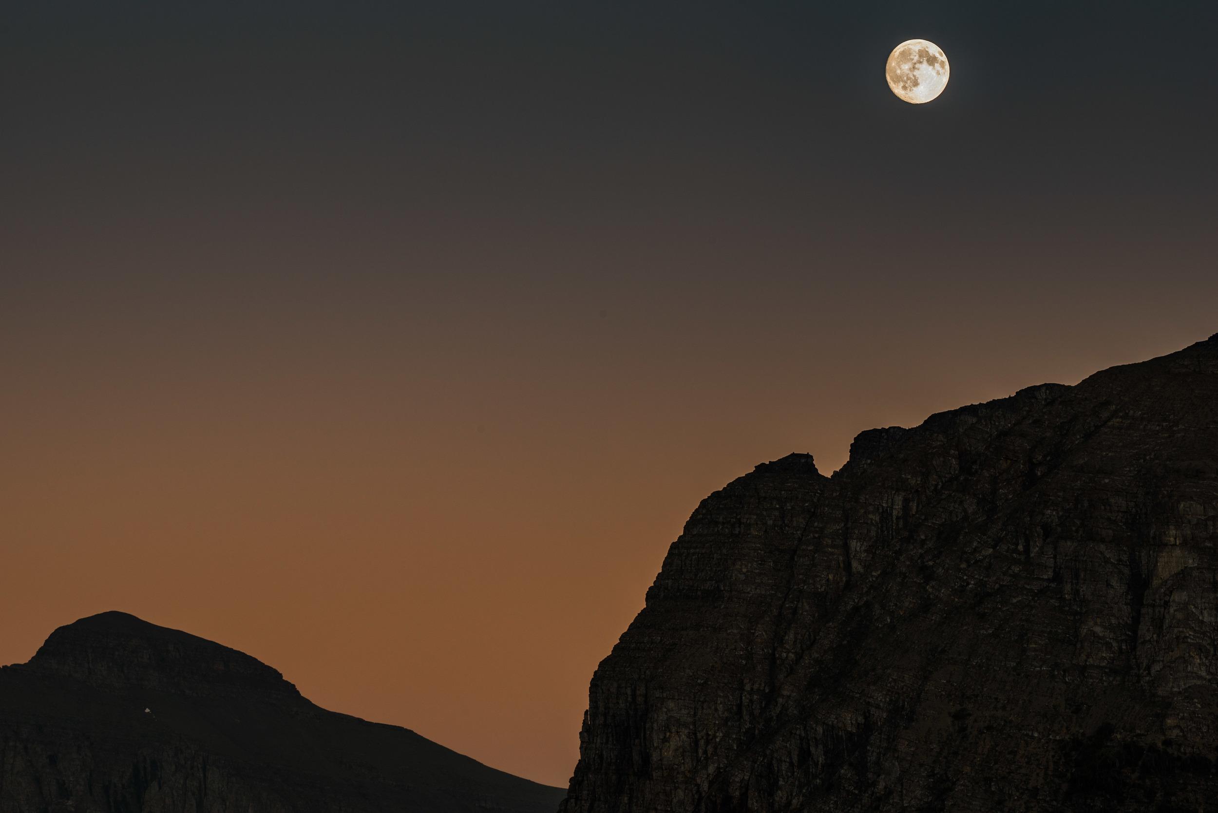 Logan Pass Moonrise