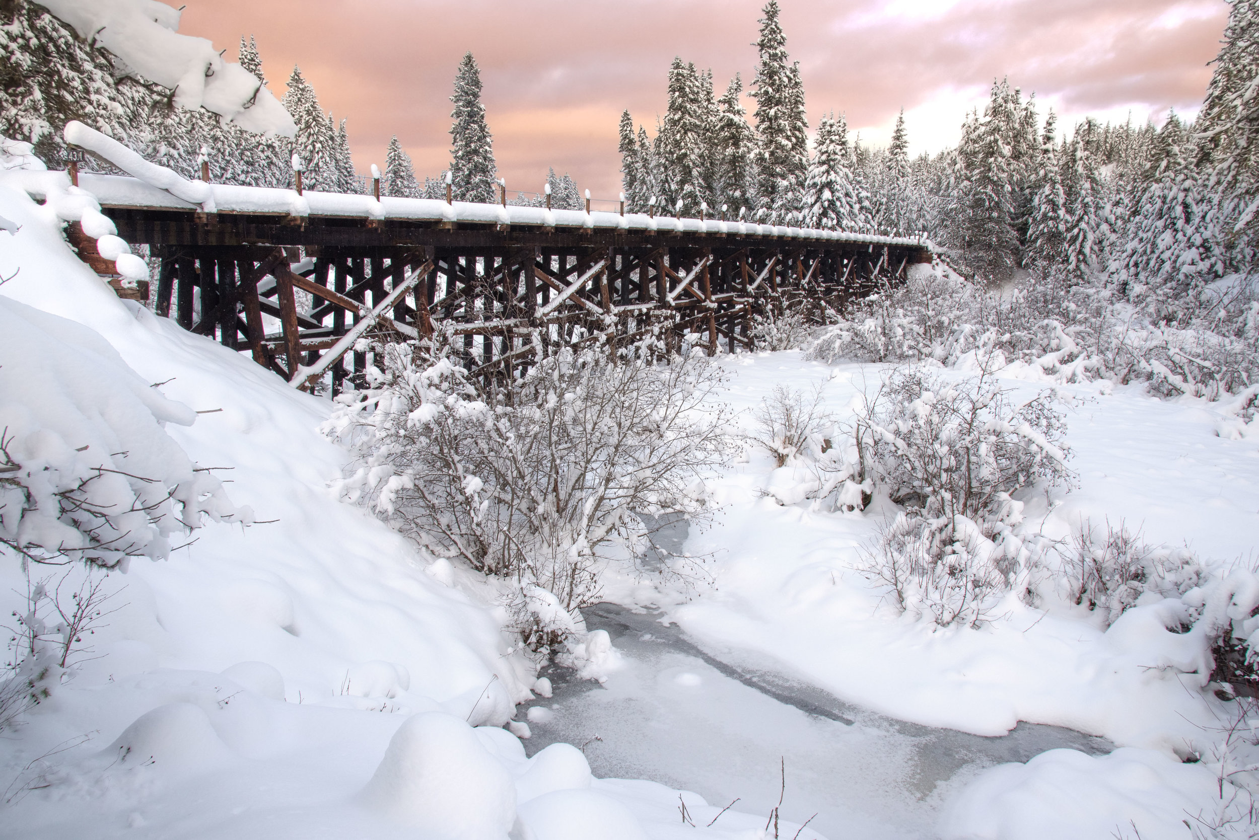 The Old Bridge in Winter