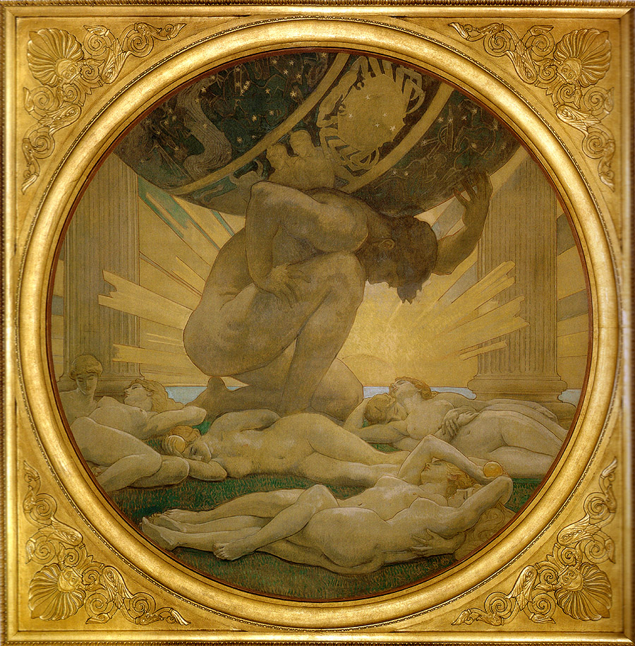 i  mage: John Singer Sargent,  Atlas and the Hesperides  (1925). Wikimedia commons (  link  ).