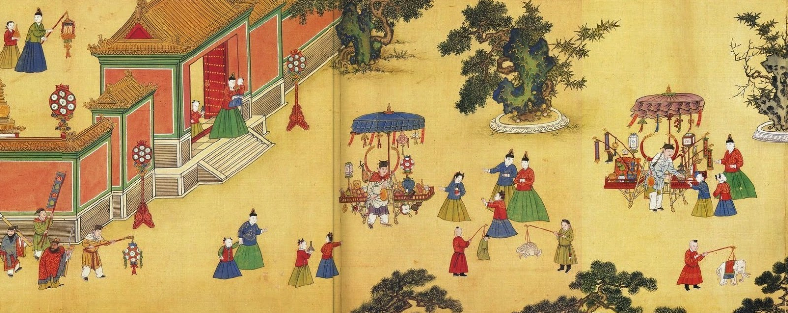 image: detail from Ming Dynasty painting, late 15th century, Wikimedia commons (   link   ).