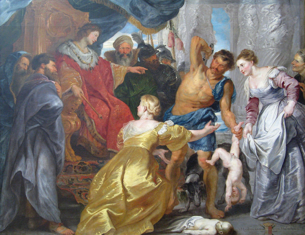 image:   The Judgment of Solomon   , Peter Paul Rubens (1577 - 1640).