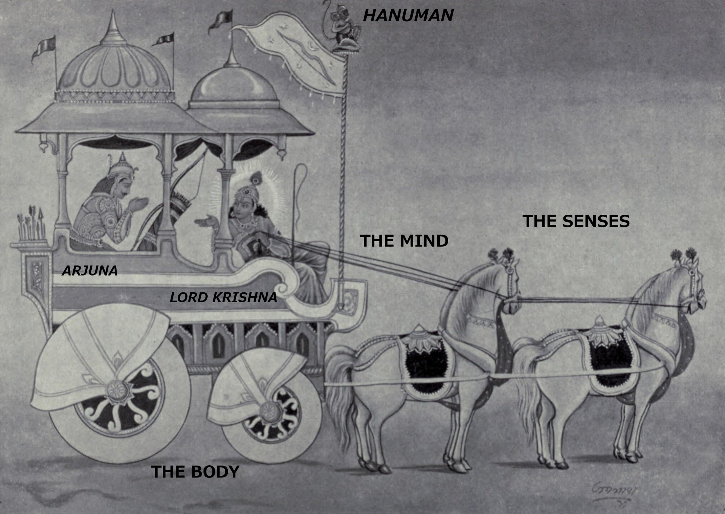 image: Wikimedia commons (  link  ); labels added, based partly on the  Katha Upanishad , Part I chapter 3.