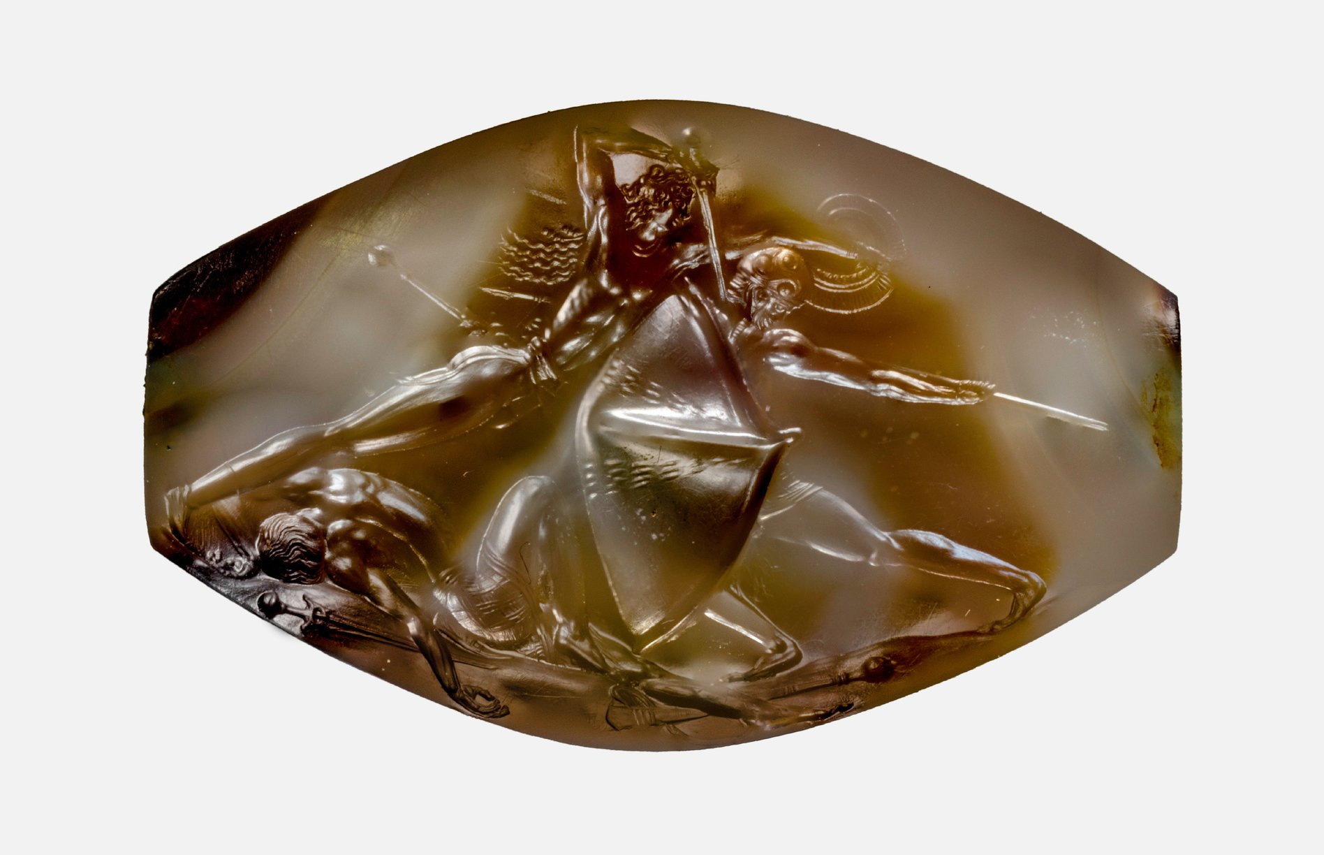 image: Pylos Combat Agate, c. 1500 BC. Wikimedia commons (  link  ).