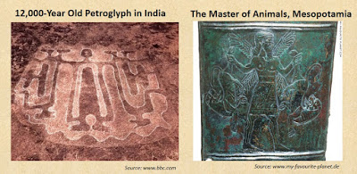 """image: Bibhu Dev Misra's post, """"  12,000-year old petroglyphs in India show Global Connections  ."""""""
