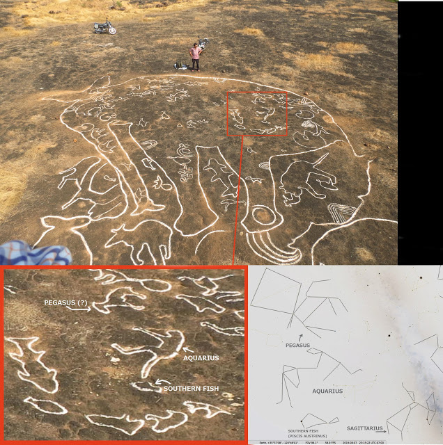 """image: article by Bibhu Dev Misra, """"  12,000-year-old Petroglyphs in India Depict Sacred Symbols of Global Importance  """", published March 28, 2019 on   GrahamHancock.com  ."""