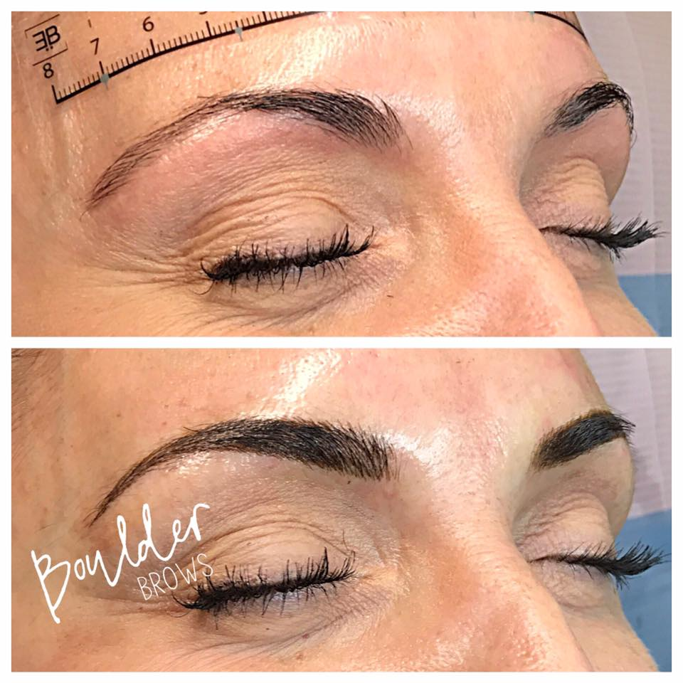 Top: Natural | Bottom: After Microblading
