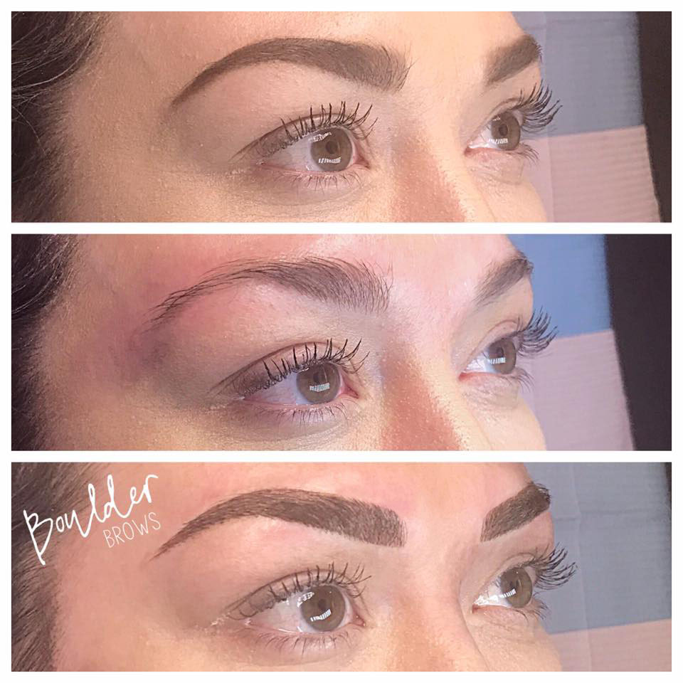 Top: Client's Drawing | Middle: Natural | Bottom: After Microblading