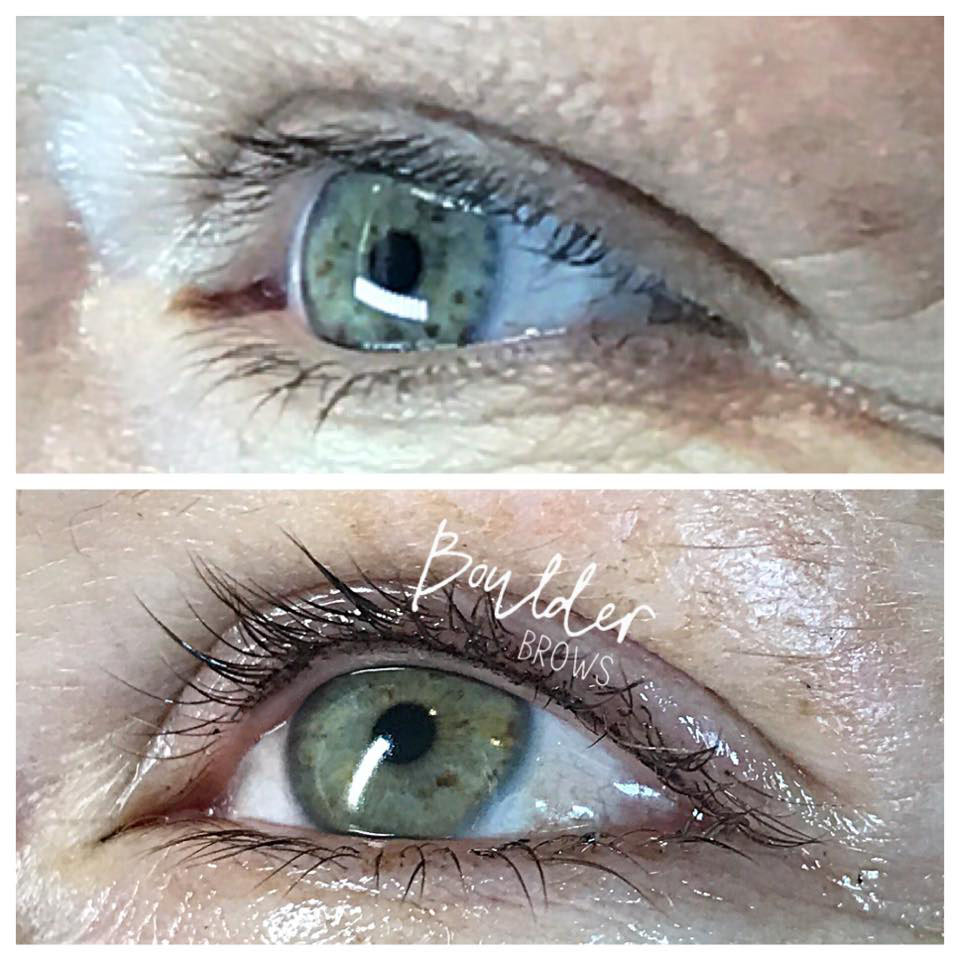 Top: Before | Bottom: After Lash Enhancement