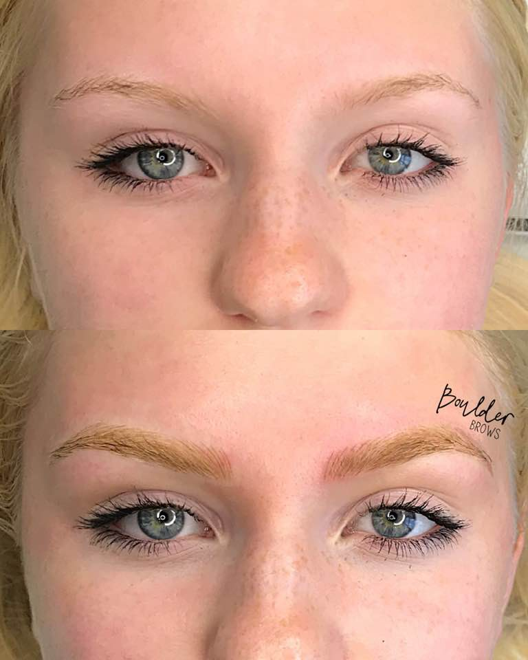 1ST MICROBLADING SESSION  BY JESS Top: Before | Bottom: After