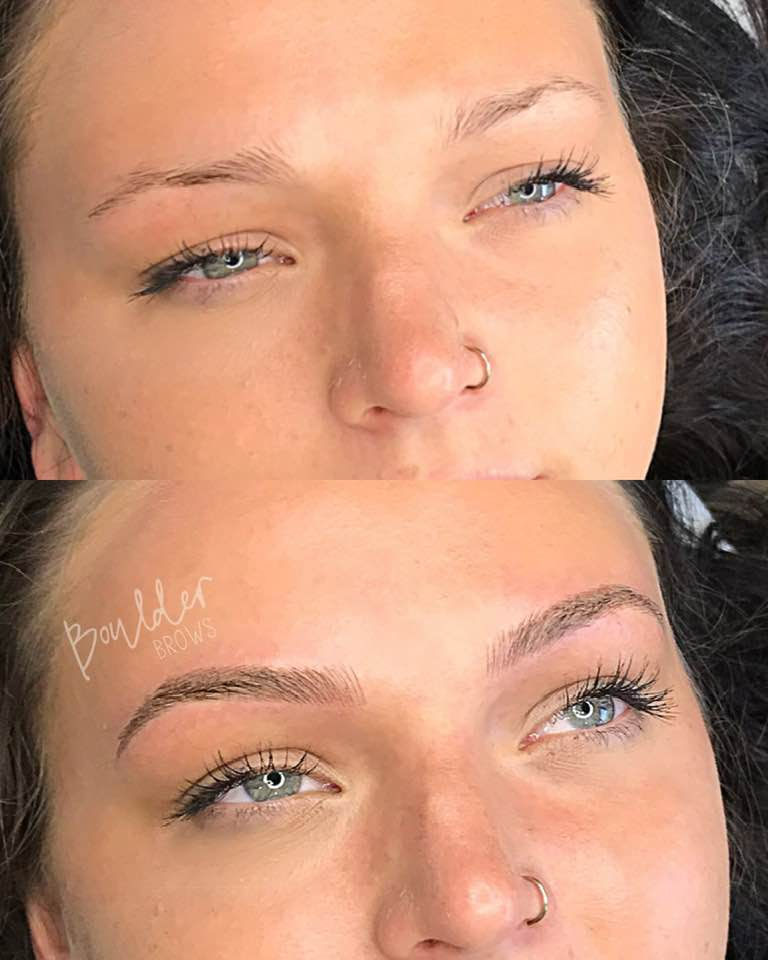 COMBINATION BROWS BY JESS Top: Before | Bottom: After