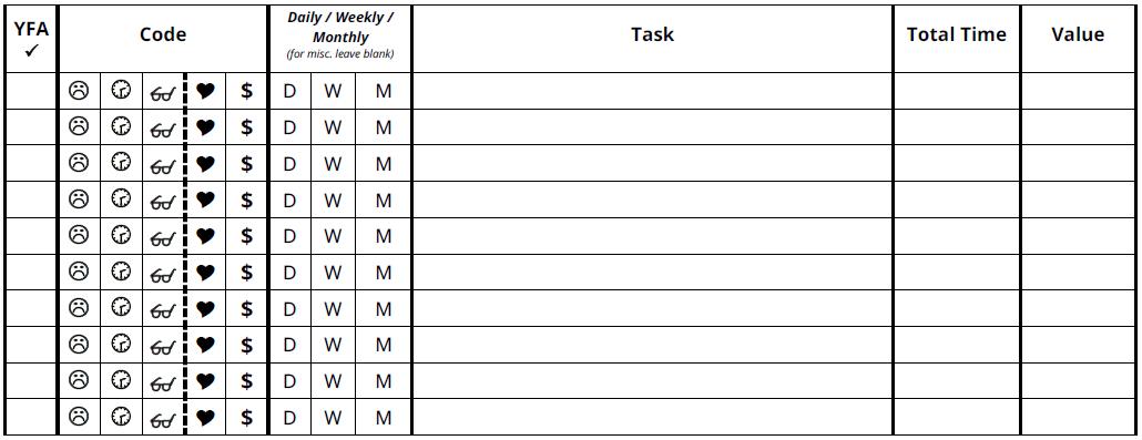 Task Worksheet -
