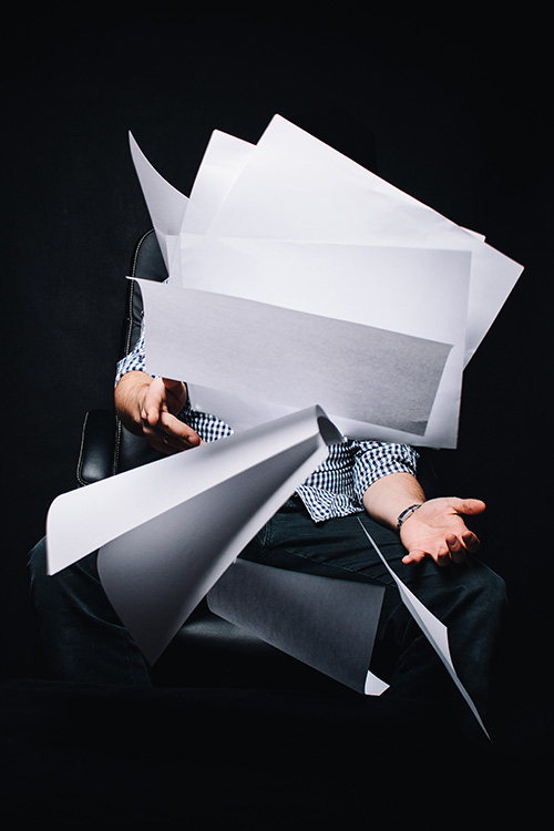 Actual image of my feelings when I looked at the piles of paperwork on my desk before I implemented a better system.
