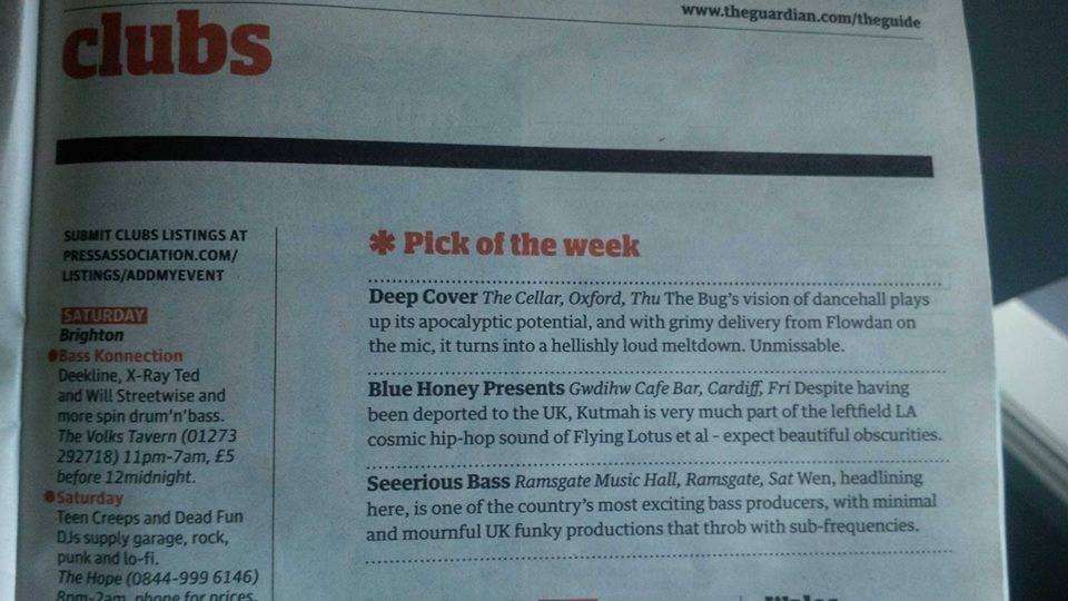 The Guardian club pick of the week. 2014.