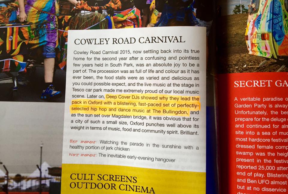 OX Magazine Cowley Road Carnival review. 2015.