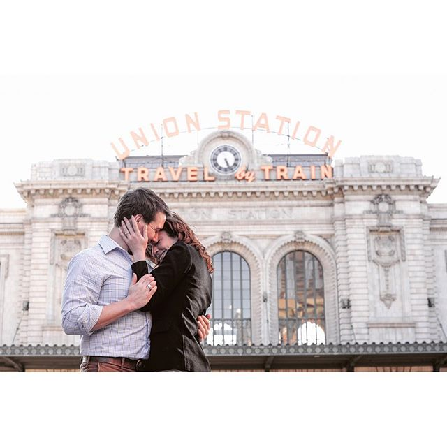 #unionstation in #Denver has come a long way from a few years back! The finished structure is impeccable and surreal. What a treat it is coming to Colorado to watch my home evolve and grow. Wild horses couldn't keep me away. 🏇#destinationweddingphotographer #coloradophotographer #engagement #denverengagementphotographer #denverweddingphotographer #coloradoweddingphotographer