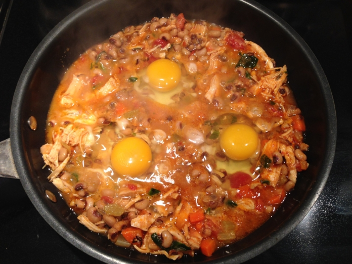 Black-Eyed Pea Stew with Eggs