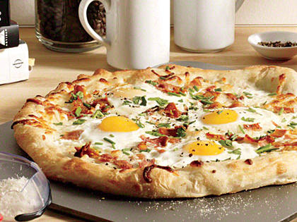 Eggs and Bacon Breakfast Pizza Photo from  MyRecipes