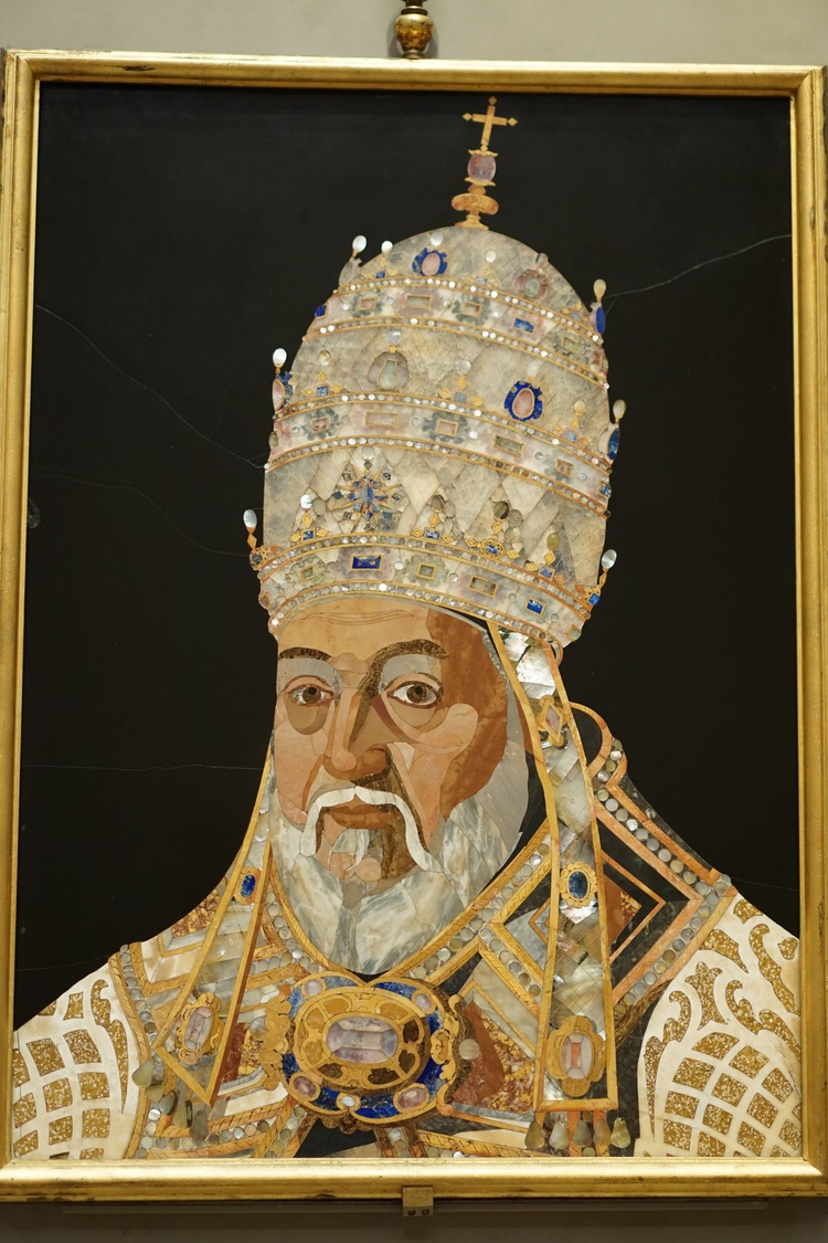 Portrait of Pope Clement VIII - by Jacopo Ligozzi and Tadda