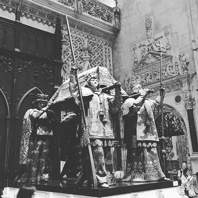 Tomb of #ChristopherColumbus - the great navigator #powerful #Seville #Spain #instatravel #sevilla