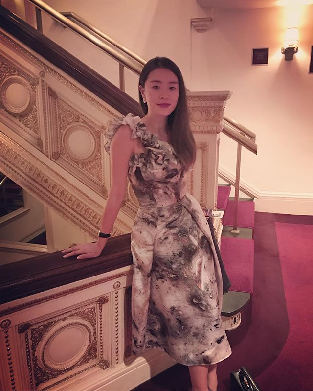 Later-gram Sunday night at the annual @richardtuckermusicfoundation concert. It really is my favorite show because you get to see all the best opera singers all in one room performing! As well as @newyorkchoralsociety - and here I am in @kungkatherine FW16 #dress #richardtucker #concert #gala #ootd #look #style #madeinNYC #carnegiehall #nyc