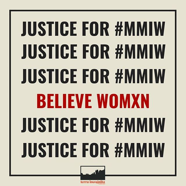 "Research about missing and murdered indigenous womxn #mmiw and advocate for better protection for indigenous womxn against racial and sexual violence. This is a public health issue. Google this story from @guardian — the numbers are staggering. The majority of these murders are committed by non-Native people on Native-owned land. This happens down the street in homes reports the Coalition to Stop Violence Against Native Women. The US Department of Justice found that Indigenous womxn face murder rates that are more than 10x the national average. If you don't know about ""man camps"" please get informed. Environmental justice is inextricable with the health of indigenous womxn. The health of the planet is inextricably tied to the health of the most marginalized. White supremacy is killing indigenous womxn. The terrifying truth is that non-Native people can get away with murdering indigenous womxn because of racial bias/racism and misogyny. The police are not trained to care for indigenous womxn. Our system is not a ""justice"" system. It is set up to perpetuate violence and continue the project of colonialism. The #MMIW epidemic is a tactic of extraction and economic exploitation. The sexual violence of #MMIW is the same violent war waged against our Mother Earth. If you aren't fighting for both, you are not fighting for either."