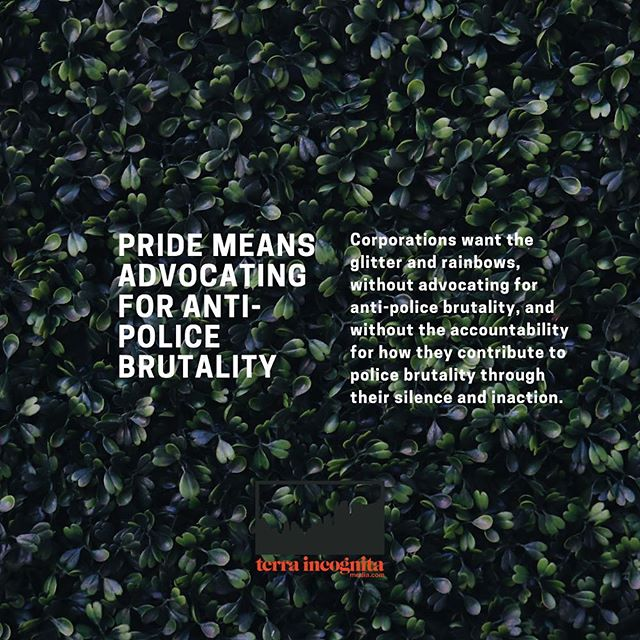 "Jewel Cadet, @jewel_thegem the Associate Director of Programs at The Center for Anti-Violence Education, reminds us via her Instagram at the start of Pride this June that Stonewall was a riot started by Black and Brown trans womxn, one of the leaders being the incomparable, Marsha P. Johnson. For Pride this year in 2019, 50 years post-Stonewall, Cadet moderated a panel called Black Queer and Trans Lives Matter: The Future of Anti-Police Brutality Movements. Cadet invited Kiara St. James @kiarainthecity of NY Transgender Advocacy Group, David Johns @mrdavidjohns of National Black Justice Coalition, Kei Williams @blackboikei of Black Lives Matter, leading Queer and Trans Black radical organizers to discuss the evolution of Black Lives Matter movements against police harassment and violence. Cadet opened with saying the names of of Black Trans womxn who have been murdered, as well as uplifted the work of Elle Hearns @soulfreedreams the founder of the Marsha P. Johnson Institute @mpjinstitute — If your organization, corporation, or company is not honoring and uplifting the lives of Black Queer and Trans people 365 days a year, and you're not considering your impact on the Black Queer and Trans communities in your area, then you are not honoring Pride. ✨ Cadet asked the panelists, ""What's one word or phrase that comes to mind when you think of police?"" Kiara St. James responded with saying, ""Often times as a Black trans woman and my relationship with the police they are not there to protect me and folx who come from my community, and I would say that they are not an ally."" For the most part, the police do not protect Black trans womxn. Jewel Cadet reinforced that police are the enemy. — excerpt from the latest essay on the site, link in bio to read more. 🌈🔥💥"