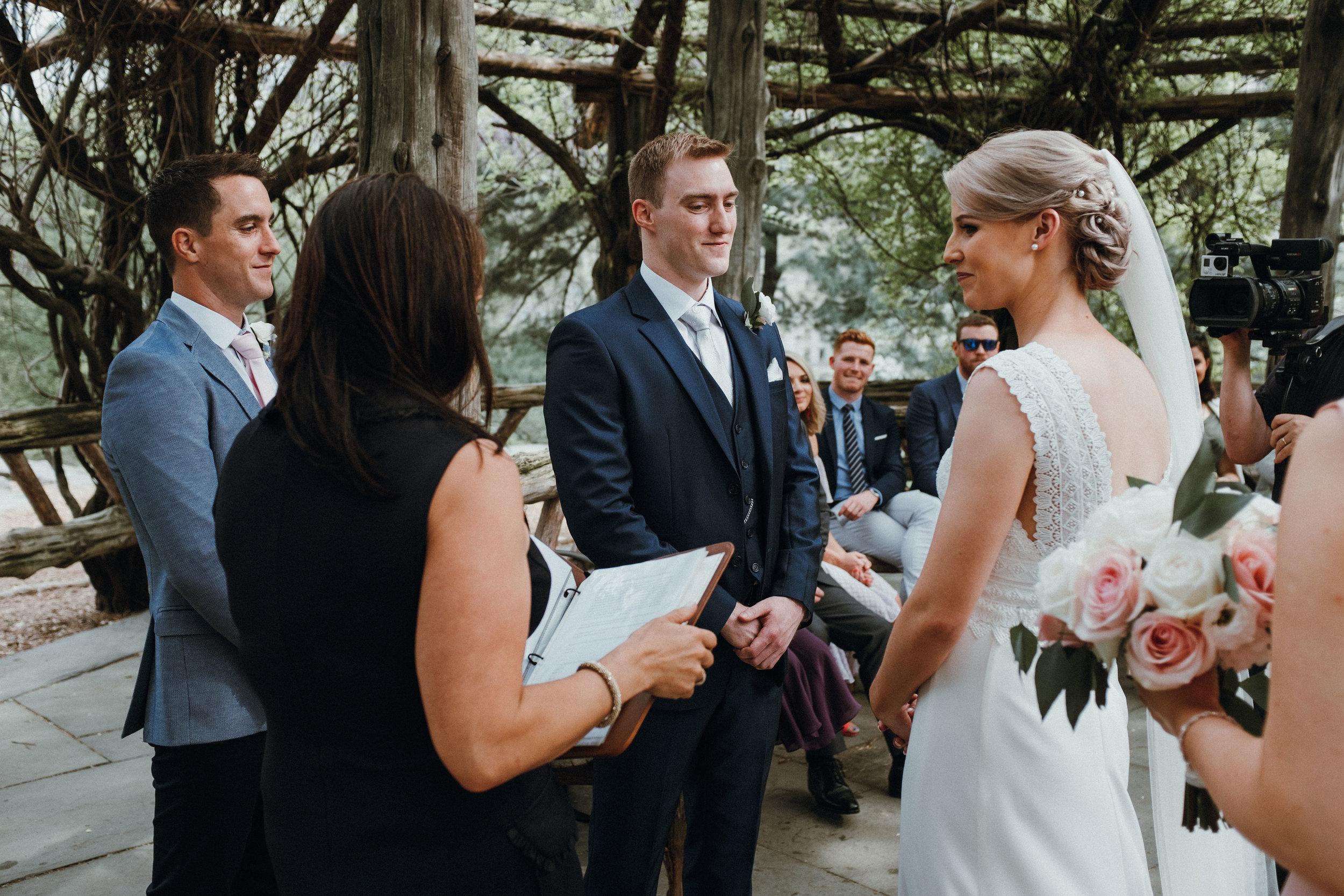 Wedding ceremony in cop cot