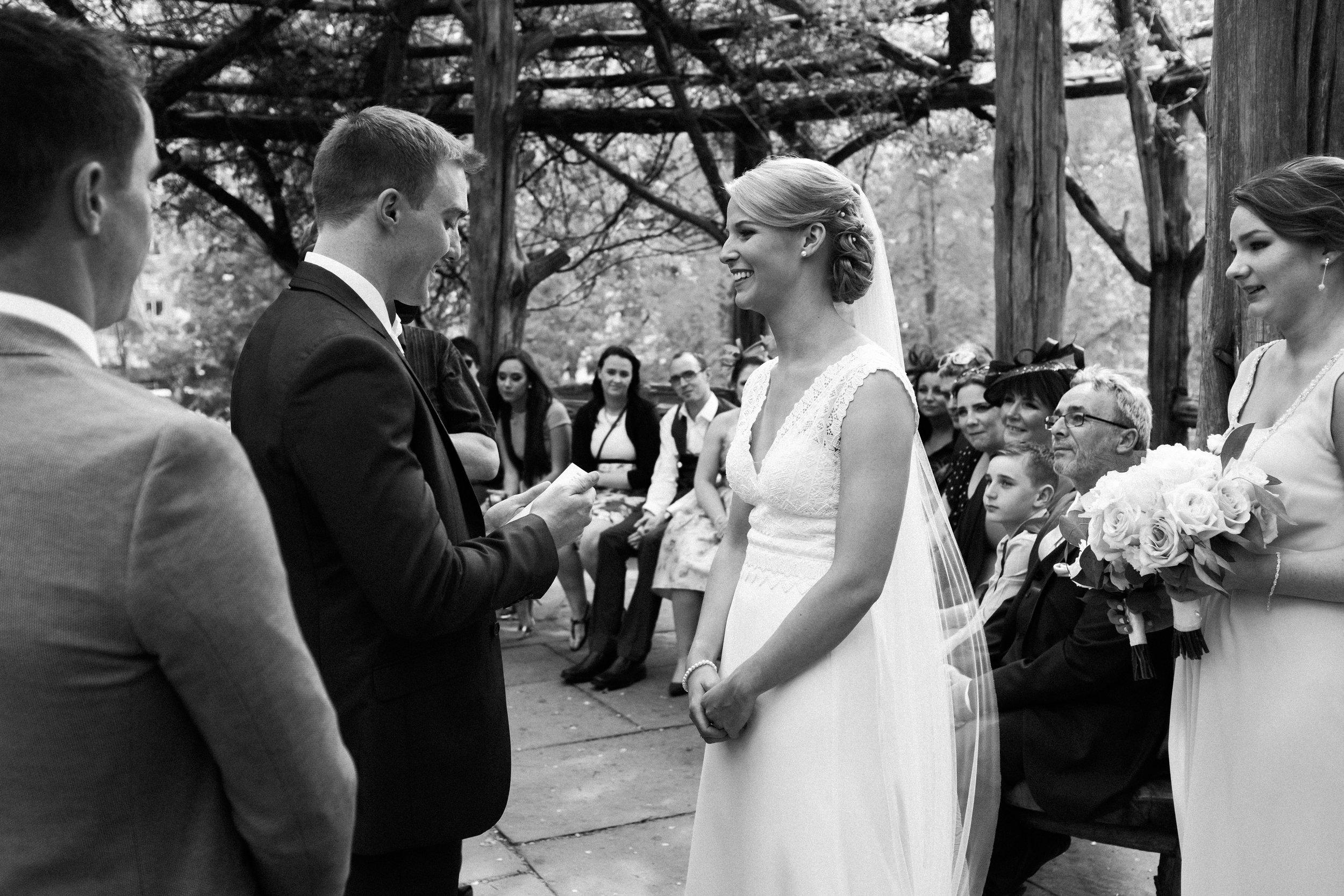 Cop Cot wedding ceremony