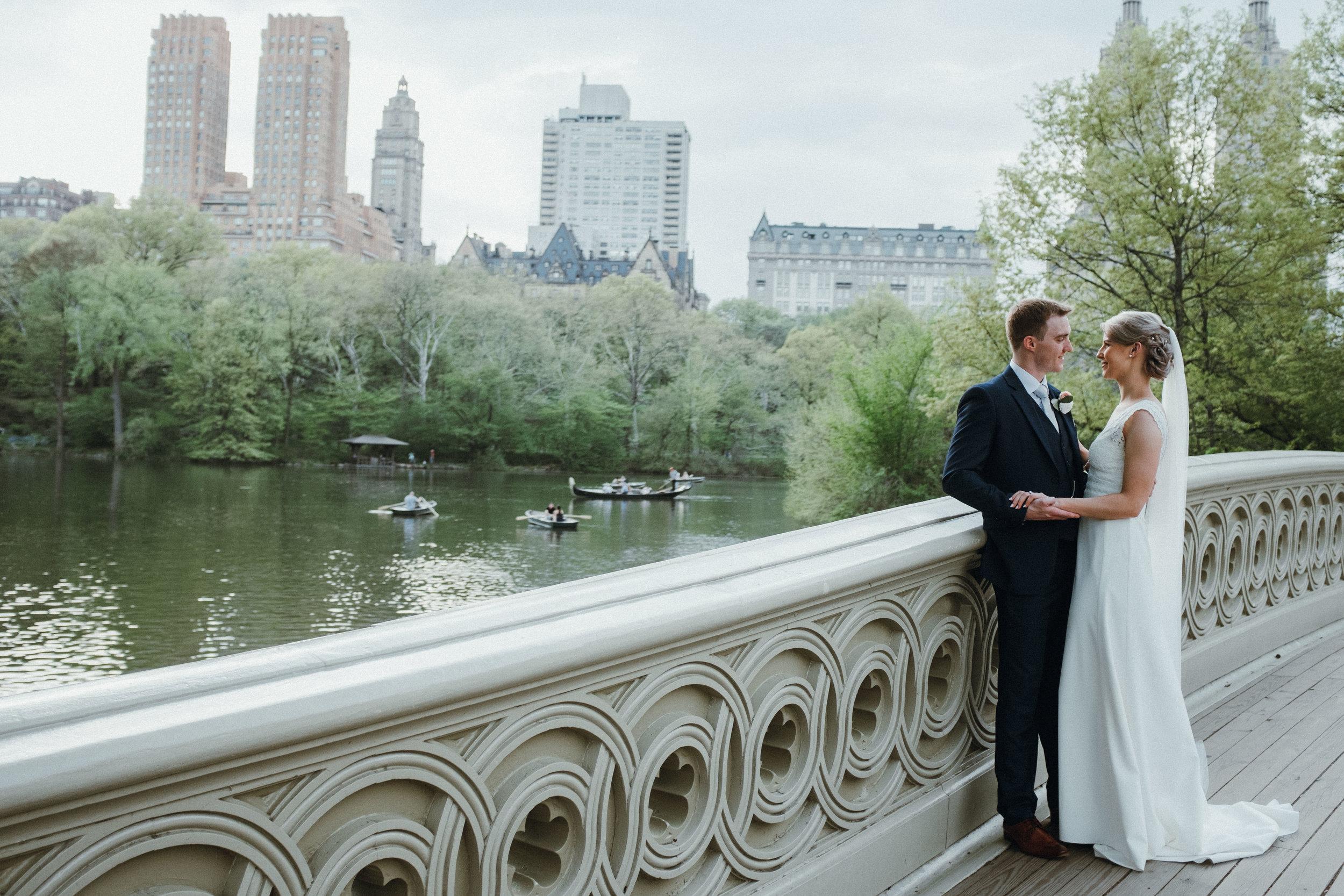 Bow Bridge Central Park destination wedding