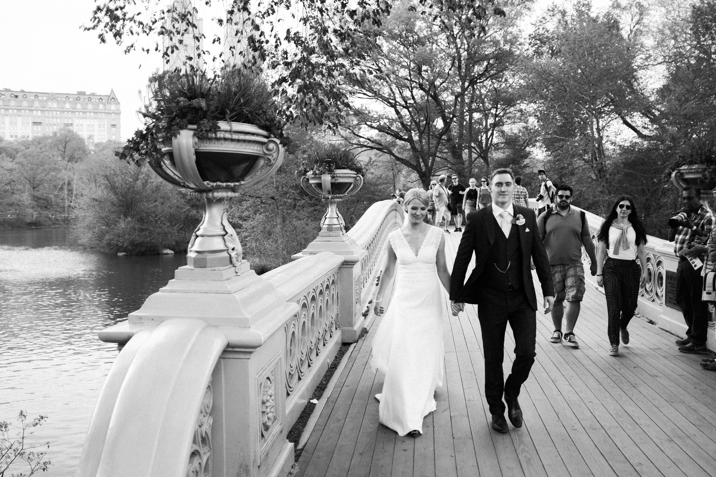 Bow Bridge Central Park wedding
