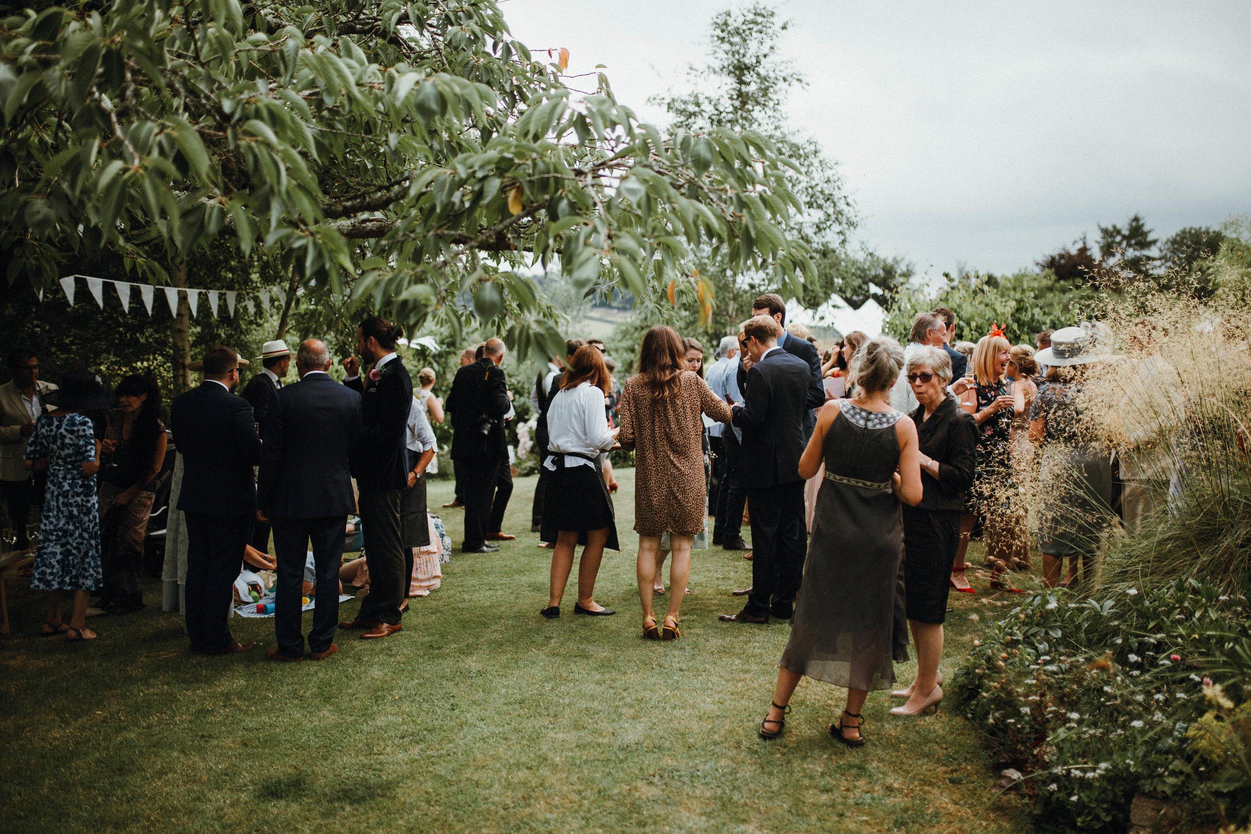 Outdoor summer English garden wedding