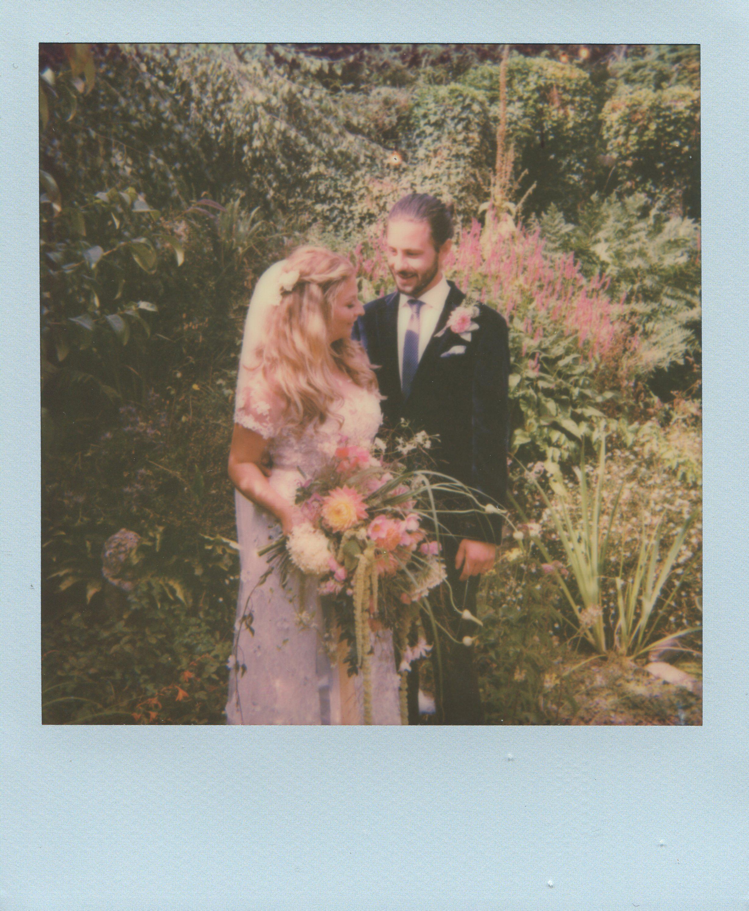 Polaroid Originals wedding portrait