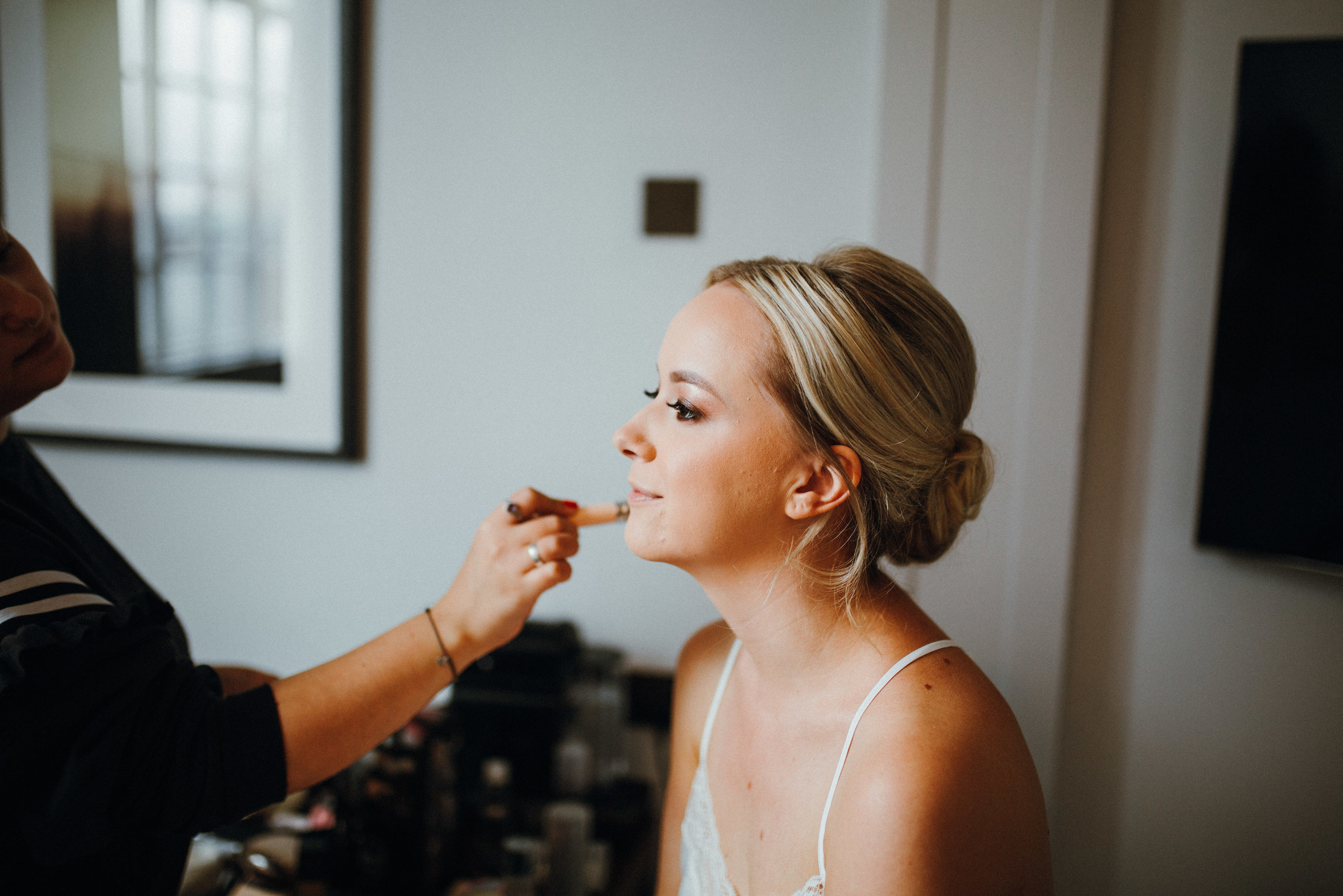 Bridal prep the Principal Hotel Manchester