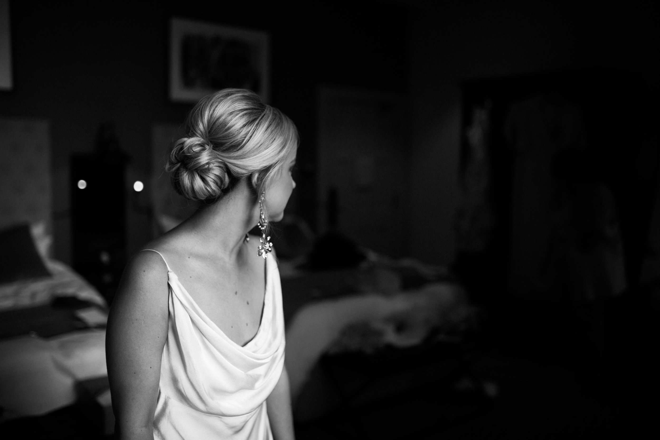 Bride wearing Tilly Thomas Lux
