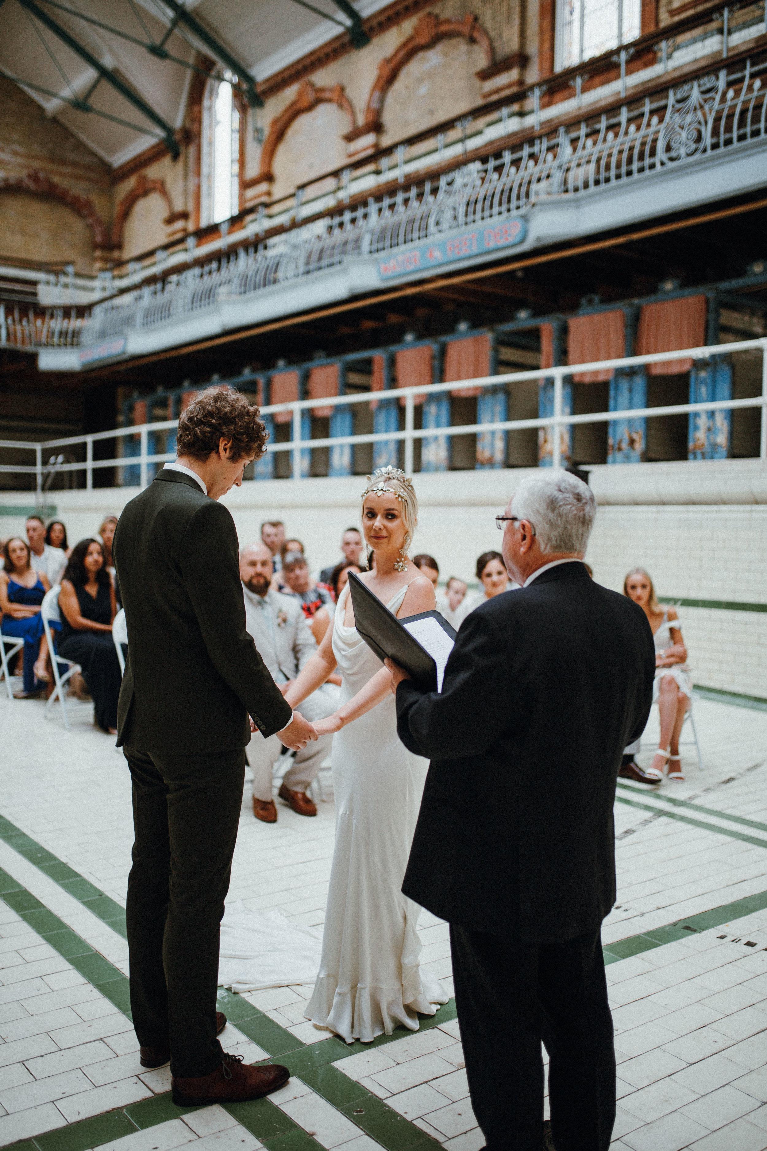 Ceremony at Victoria Baths