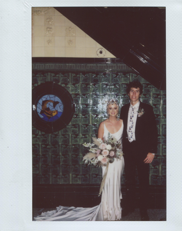 Instant film wedding photographer