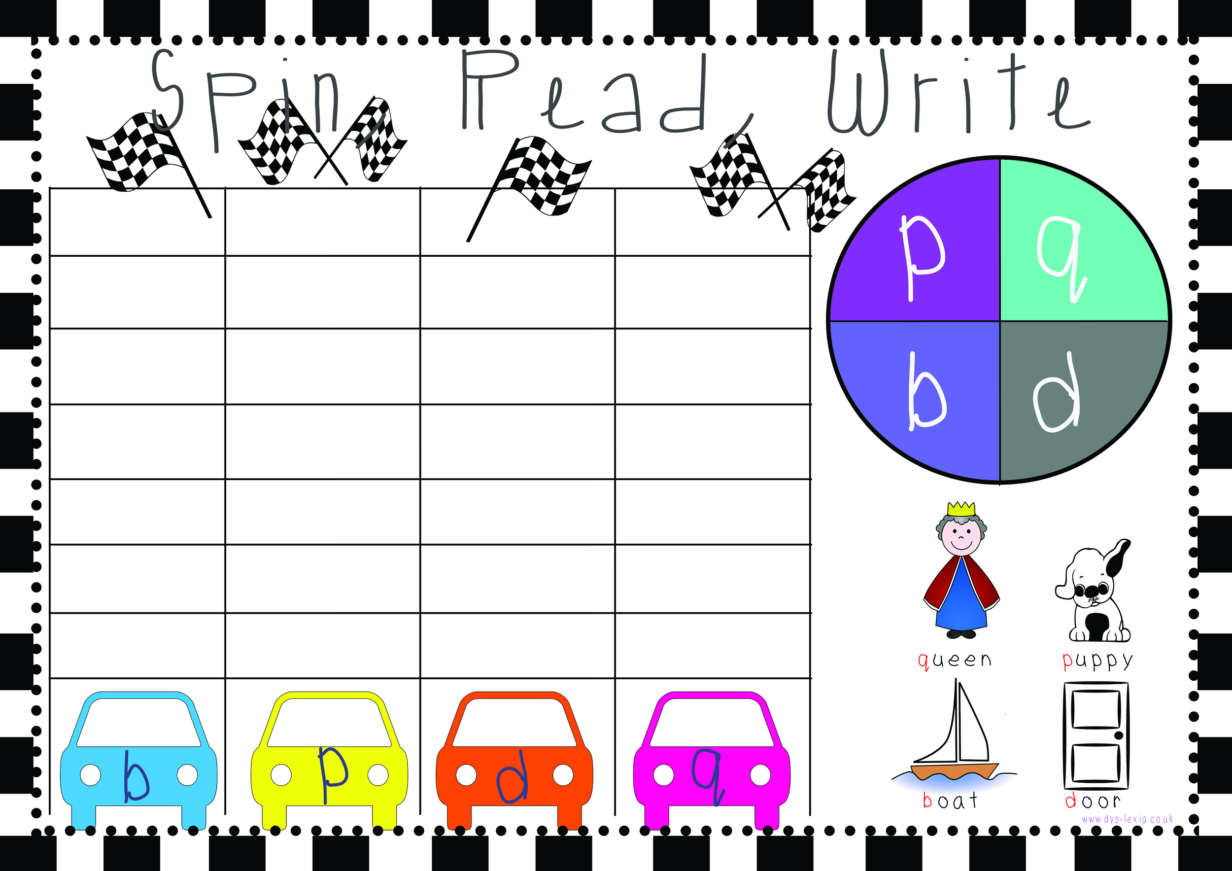 Great activity for helping with mirror letters bdpq confusion. Great advice and free worksheet from www.dys-lexia.co.uk