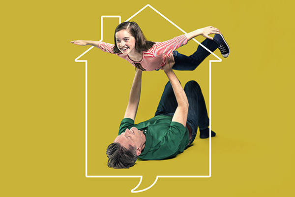 Rob Lindley and Stella Rose Hoyt in FUN HOME at Victory Gardens. Previews begin September 19th