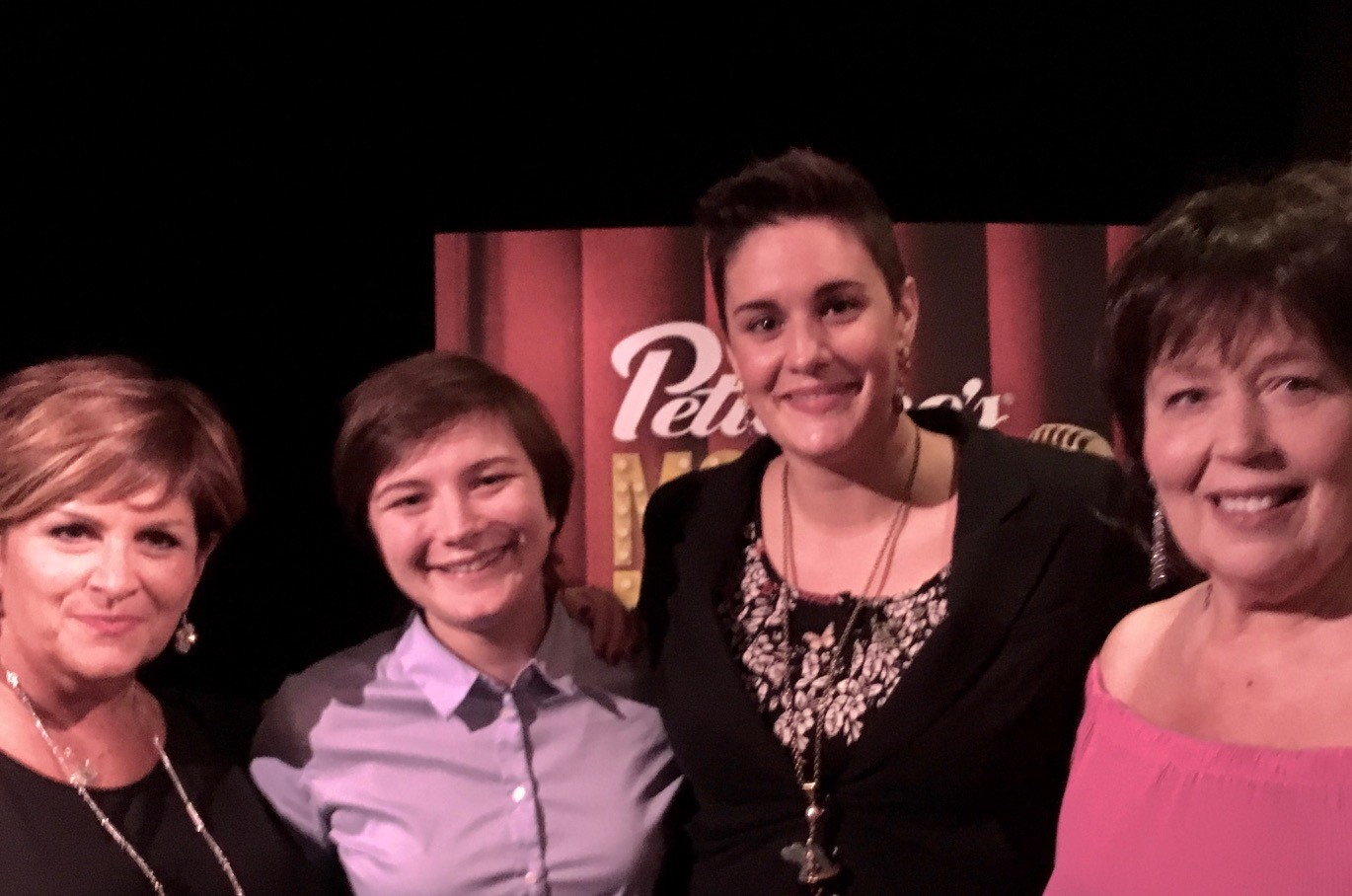 FUN HOME  cast members were on hand this week to celebrate the 10th Anniversary of Petterino's Monday Night Live (l-r) Denise McGowan Tracy, Hannah Starr, Danni Smith, Beckie Menzie.  FUN HOME  is extended through November 12th at  Victory Gardens .