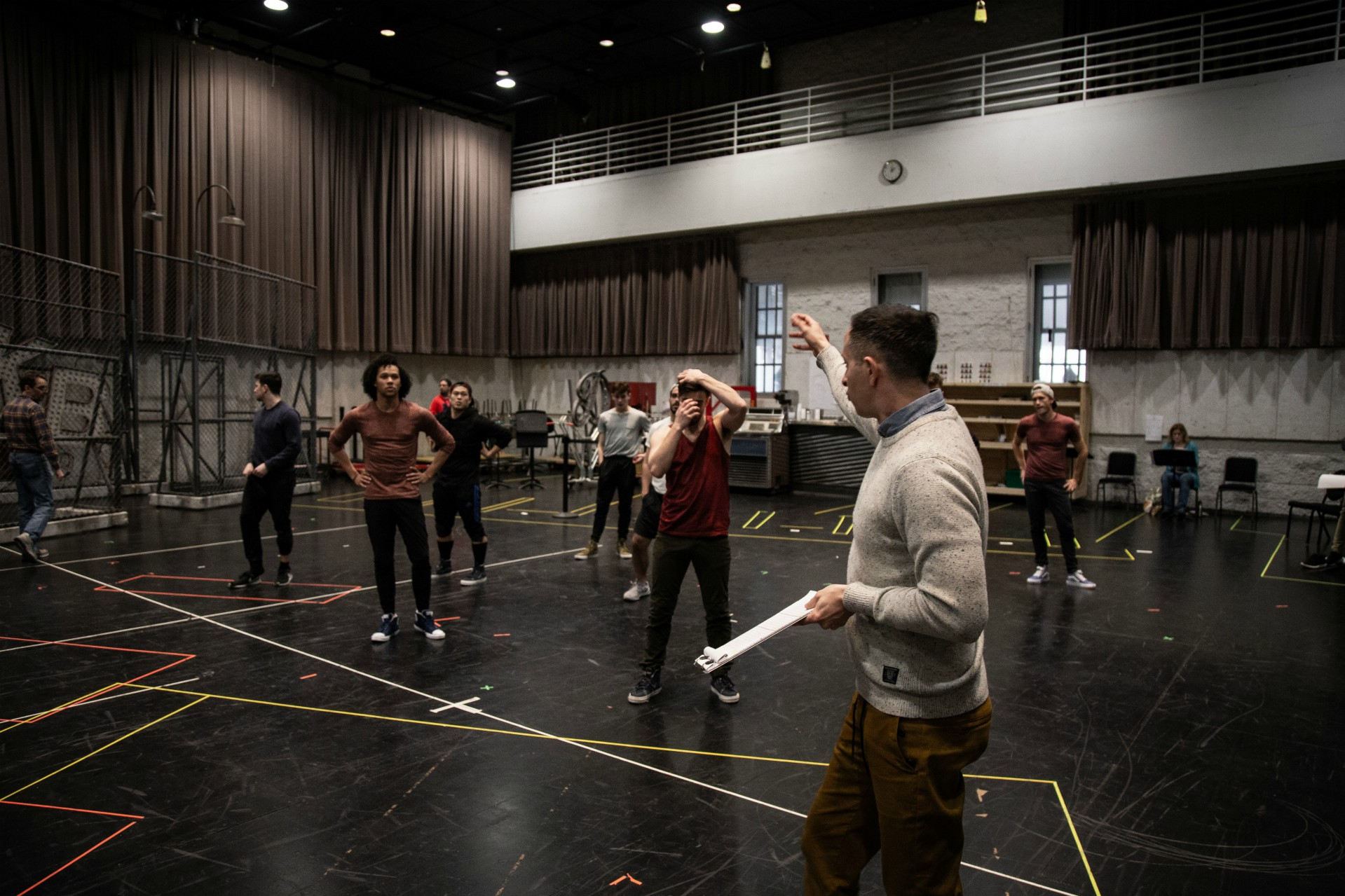 West Side Story Rehearsal Andrew Cioffi Photo