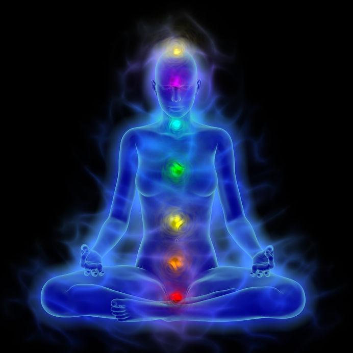 Chakras, Aura and Blue Corona of the Body
