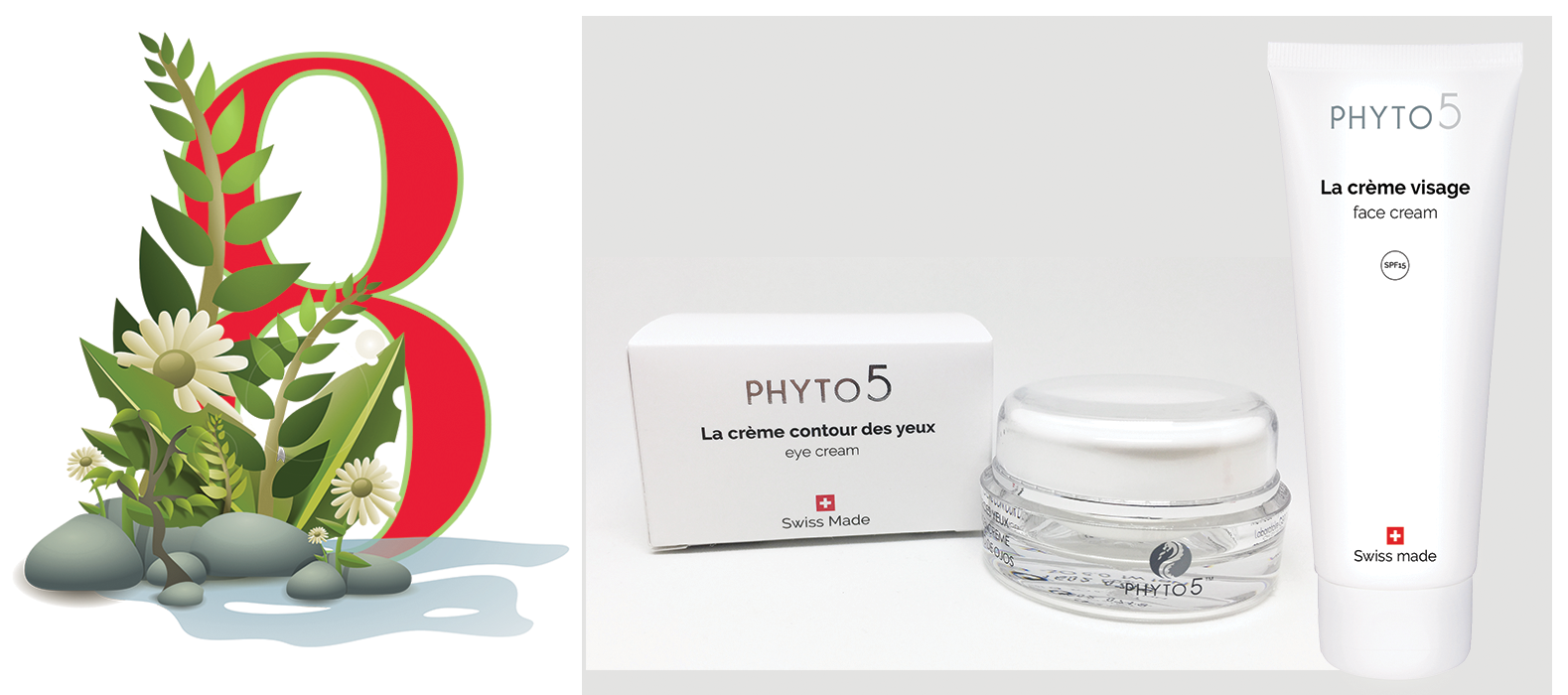 Day 8 of the Twelve Days of PHYTO5 features Eye Cream and Face Cream at a 20% discount. Save $28.40.