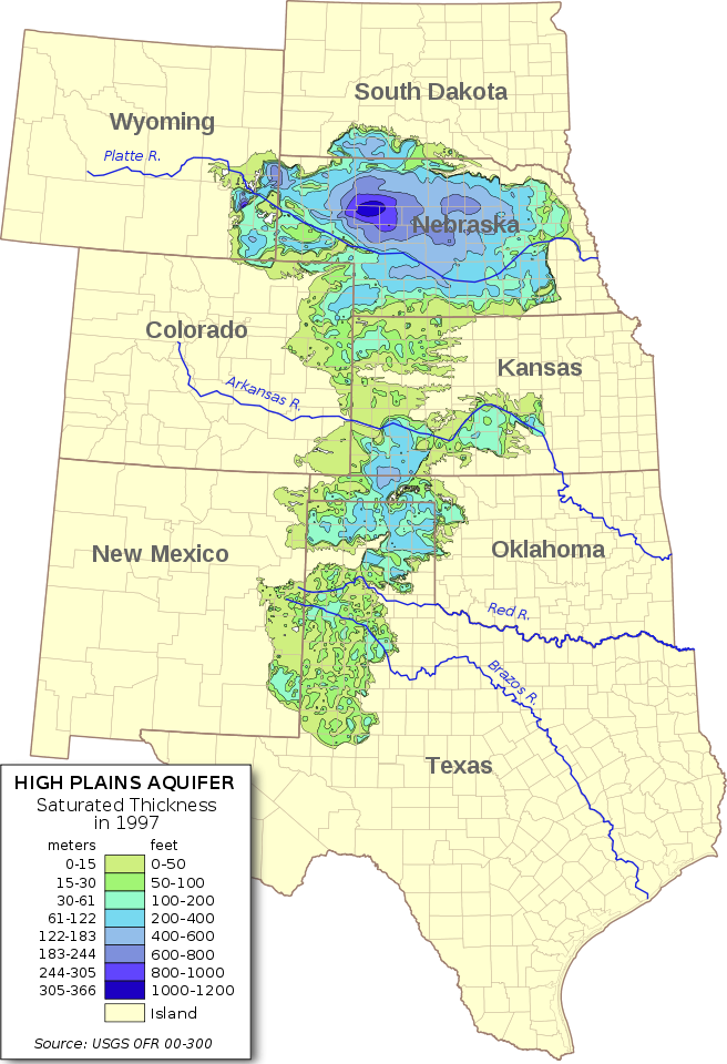 The Ogallala Aquifer map