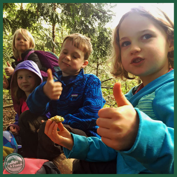 Thumbs up for Big-leaf Maple Fritters!