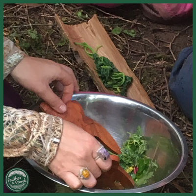 """Delicious Wild Salad and Boiled Nettles aka a """"Fairy Snack"""""""
